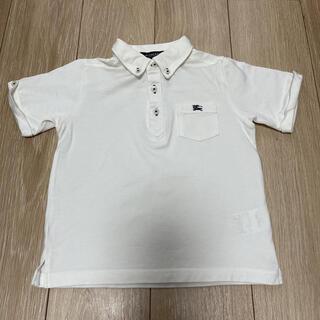 バーバリー(BURBERRY)のバーバリー 半袖 ポロシャツ 110cm 白 フォーマルにも(Tシャツ/カットソー)