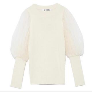 スナイデル(snidel)の♡snidel dot sleeve knit♡(ニット/セーター)