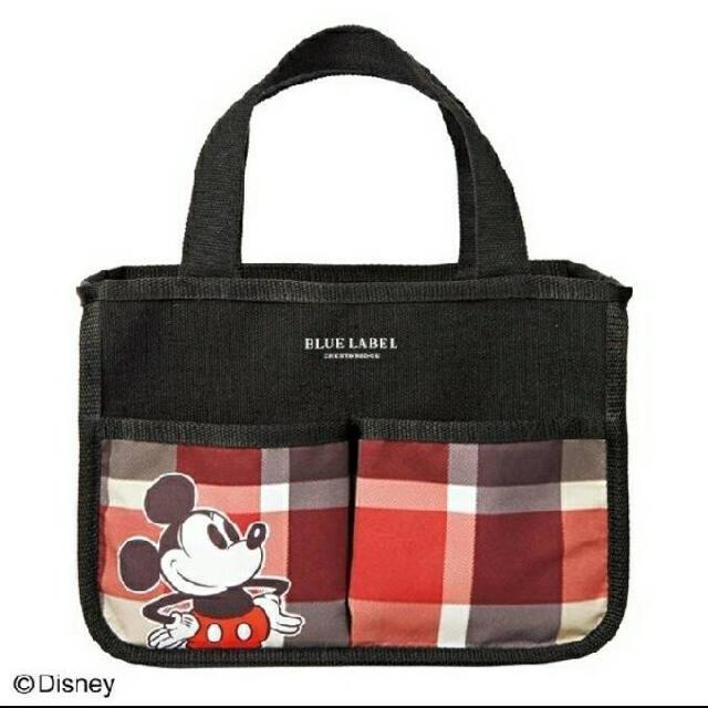 Disney(ディズニー)のsweet 5月号付録 ブルーレーベル ミッキーマウスデザイン インテリアバッグ レディースのバッグ(トートバッグ)の商品写真