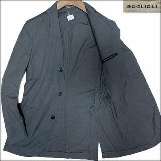 ボリオリ(BOGLIOLI)のJ3077 美品 ボリオリ DOVER コットン テーラードジャケット 灰 42(テーラードジャケット)