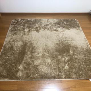 ニトリ(ニトリ)のニトリ Nウォーム ラグ 185×185cm ベージュ(ラグ)