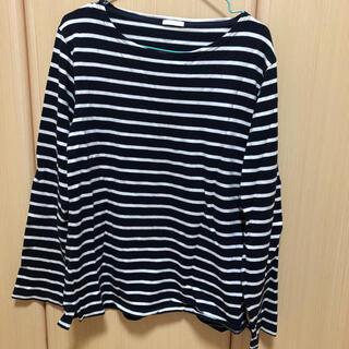 ジーユー(GU)のボーダーシャツ(Tシャツ/カットソー(七分/長袖))