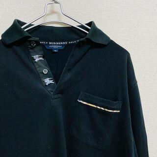 バーバリー(BURBERRY)の一点物 バーバリーゴルフ ノバチェック ロゴテープ ホースロゴ ポロシャツ(ポロシャツ)