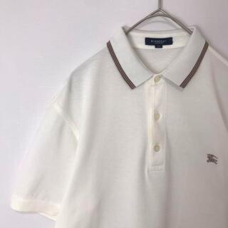 バーバリー(BURBERRY)の古着 Burberry ポロシャツ ワンポイント刺繍ロゴ(Tシャツ/カットソー(半袖/袖なし))