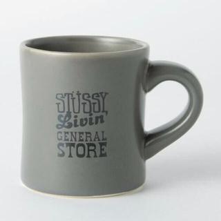 ステューシー(STUSSY)の新品未使用STUSSY Livin GENERAL STOREグレー マグカップ(グラス/カップ)