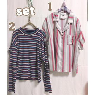 シマムラ(しまむら)の143 トップス 2点セット 2セット まとめ売り Lサイズ(シャツ/ブラウス(半袖/袖なし))