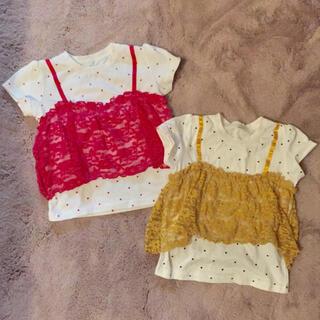 しまむら - 重ね着tシャツ #双子 #2個セット #姉妹