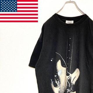 FENDI - ●FENDEN● アメリカ古着 ギター ロックTシャツ ブラック メンズ