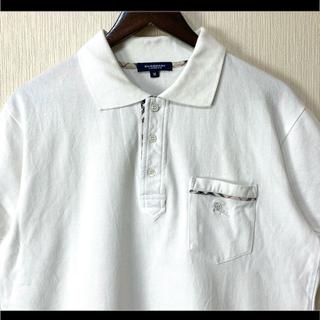 バーバリー(BURBERRY)のBurberry バーバリーロンドン ポロシャツ ホワイト 胸元ポケットロゴ刺繍(ポロシャツ)