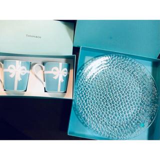 Tiffany & Co. - ティファニー リボン マグカップ コブルストーン プラター プレート