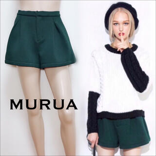 MURUA - MURUA フレア ショートパンツ*エモダ GYDA ジーナシス SLY