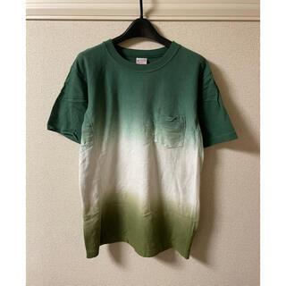 チャンピオン(Champion)のチャンピオン champion Tシャツ カットソー 半袖 グラデーション 緑(Tシャツ/カットソー(半袖/袖なし))