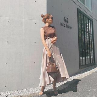 rienda - rienda チェーンサスペンダーグロスフレアSK リエンダ スカート