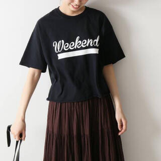 Spick and Span - FUNG  ベーシックカットオフプリントTシャツ Spick & Span