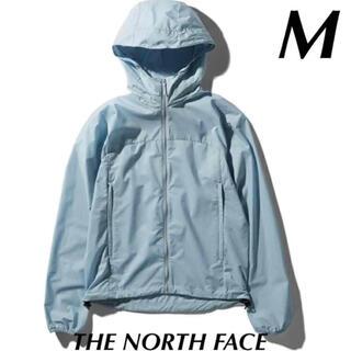ザノースフェイス(THE NORTH FACE)のTHE NORTH FACE ノースフェイス スワローテイルフーディ 水色 M(ナイロンジャケット)