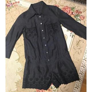 ジルスチュアート(JILLSTUART)のジルスチュアート 七分袖 刺繍シャツサロペット(サロペット/オーバーオール)