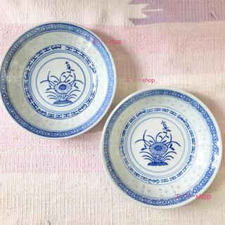 ムジルシリョウヒン(MUJI (無印良品))の美品レア★ 景徳鎮 蛍焼き小皿 2枚セット(食器)