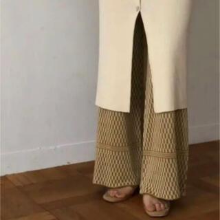 TODAYFUL - Geometric Knit Pants 幾何学パンツ