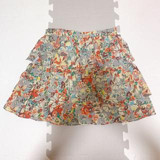 ジルスチュアート(JILLSTUART)のJILL STUART♡ジルスチュアート 花柄フリルスカート(ミニスカート)