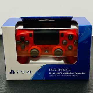 プレイステーション4(PlayStation4)のPS4 ワイヤレスコントローラー 純正 デュアルショック4 新品 レッド(その他)