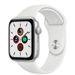 アップル(Apple)のApple Watch SE シルバー 44mm (ラバーベルト)