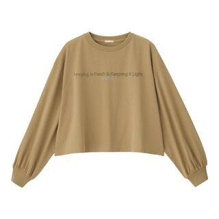 ジーユー(GU)のロゴT(Tシャツ(長袖/七分))