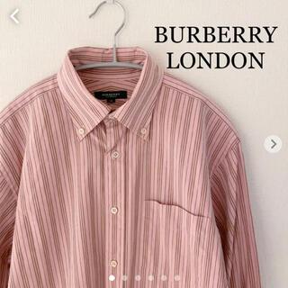 バーバリー(BURBERRY)のBURBERRY LONDON ストライプシャツ 長袖 日本製 三陽商会 (シャツ)