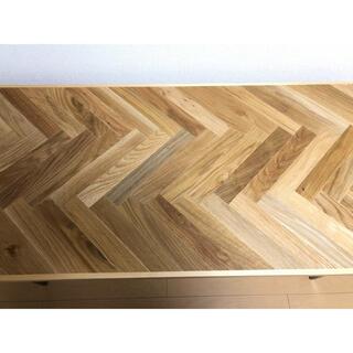 ムジルシリョウヒン(MUJI (無印良品))の天板/オーク材ヘリーボーン サイドテーブル(ローテーブル)