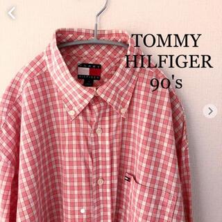 トミーヒルフィガー(TOMMY HILFIGER)のトミーヒルフィガー  90's 長袖シャツ 旧タグTOMMY  HILFIGER(シャツ)
