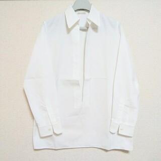 エルメス(Hermes)のHERMESエルメス マルジェラ期コットンスキッパーシャツ#34ホワイト白(シャツ/ブラウス(長袖/七分))