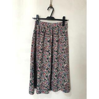 フラワー(flower)の古着屋購入/花柄ボタニカルミモレ丈スカート(ひざ丈スカート)