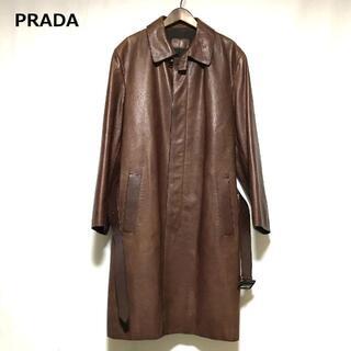 PRADA - PRADA レザーコート レザージャケット プラダ メンズ