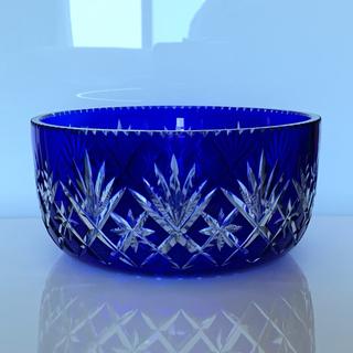 バカラ(Baccarat)の✯ 極レア 神秘的 オールド Saint-Louis  青 サファイア 丸鉢 ✯(テーブル用品)