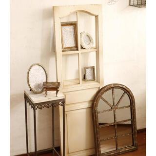 新品 未使用 遂に再入荷 雰囲気抜群◎ アンティーク調のドア風木製オブジェ