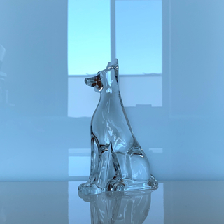バカラ(Baccarat)の✯ 極レア 絶版 Baccarat ドーベルマン 犬 クリスタル 置物 ペット✯(犬)