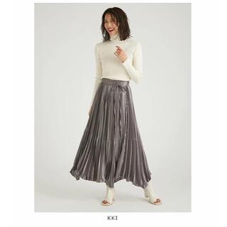 フレイアイディー(FRAY I.D)のタグ付き新品未使用 割線チンツプリーツスカート(ロングスカート)