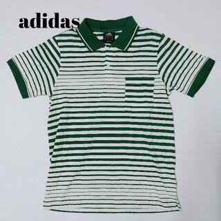 アディダス(adidas)のアディダス 新品タグ付き ポロシャツ 緑×白 adidas(ポロシャツ)