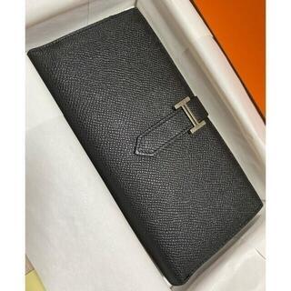 エルメス(Hermes)のエルメス ベアンクラシック 長財布 ブラック(ネックレス)