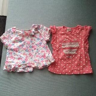 オシュコシュ(OshKosh)の女の子 夏物 半袖カットソー2枚セット(シャツ/カットソー)