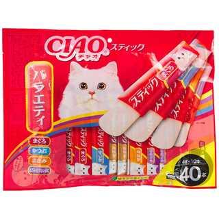 チャオ (CIAO) 猫用おやつ スティック 40本バラエティ 15g×40本(猫)