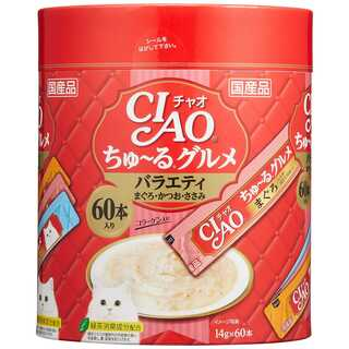 チャオ (CIAO) 猫用おやつ ちゅ~る グルメ バラエティ 14g×60本入(猫)