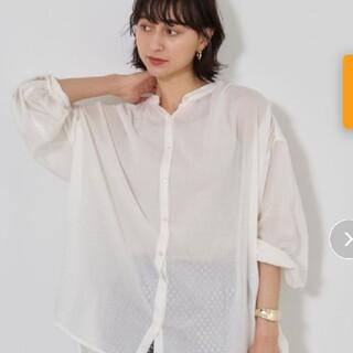 アース earth オーバーサイズ 白 シャツ シャツワンピ チュニック