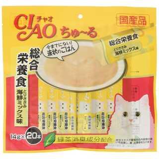 猫用おやつ ちゅ~る 総合栄養食 とりささみ 海鮮ミックス味 14g×20本入(猫)