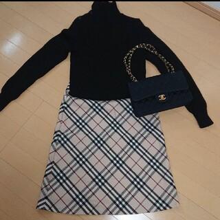バーバリー(BURBERRY)のBURBERRY バーバリーロンドン ウールスカート size38(ひざ丈スカート)