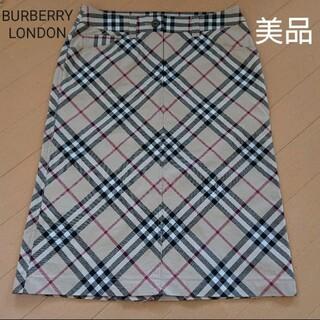 バーバリー(BURBERRY)のBURBERRY バーバリーロンドン スカート size34(ひざ丈スカート)
