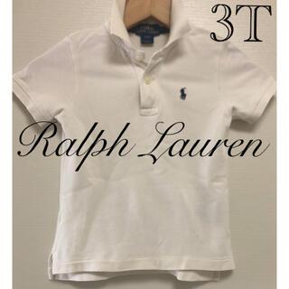ラルフローレン(Ralph Lauren)の【正規品】ラルフローレン ポロシャツ キッズ 3T 白 Polo 90 100(Tシャツ/カットソー)