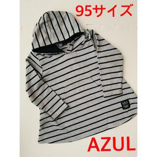 アズールバイマウジー(AZUL by moussy)のAZUL★アズール★Aライントップス★95サイズ(Tシャツ/カットソー)