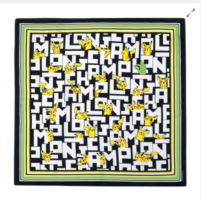 LONGCHAMP(ロンシャン)のロンシャン ポケモン コラボ シルクスカーフ ピカチュウ   レディースのファッション小物(バンダナ/スカーフ)の商品写真