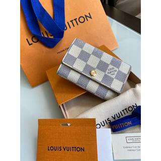 LOUIS VUITTON - LOUIS VUITTON ルイヴィトン キーケース6連 ダミエ アズール