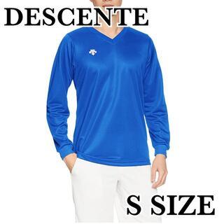新品 デサント バレーボール V首長袖ゲームシャツ 男女兼用 Sサイズ(バレーボール)